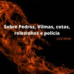 Sobre Pedros, Vilmas, cotas, rolezinhos e polícia